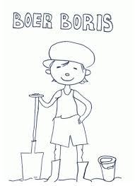 Kleurplaat Boer Boris Activiteiten Kleurplaten Boerderij Thema