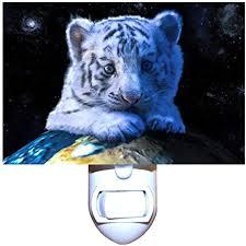 baby white tiger decorative night light