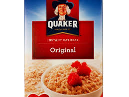 oatmeal plain instant nutrition facts