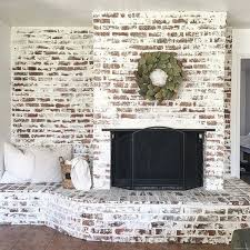 painted brick fireplaces ideas