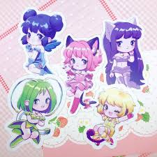 Tokyo Mew Mew Stickers Vinyl Decal Sticker Colorful Magical Etsy