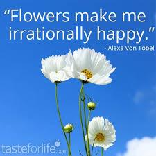flowers make me irrationally happy alexa von tobel make me
