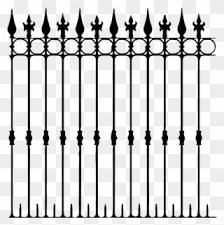 Halloween Clipart Fence Silhouette Png Download 417445 Pinclipart