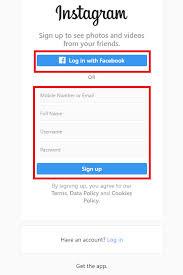 how to create an insram account