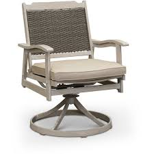 white washed swivel rocker patio chair