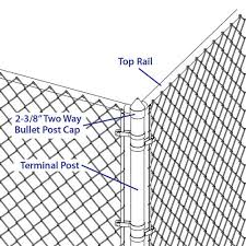 2 3 8 Chain Link Fence Two Way Bullet Cap At Menards