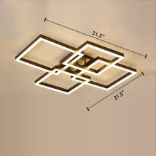 brown square frame led ceiling light