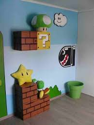 Mario Themed Childs Bedroom Kids Room Decor Ideas Mario Room Super Mario Room Kids Room