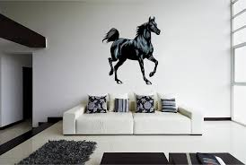 Cik873 Full Color Wall Decal Horse Ravens Animal Living Room Bedroom Stickersforlife