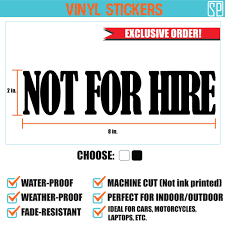 Not For Hire Vinyl Sticker Shopee Philippines