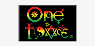 one love symbols rasta colors rectangle