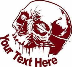 Custom Skull Name Text Lineman Gothic Sign Car Truck Window Vinyl Decal Sticker Ebay