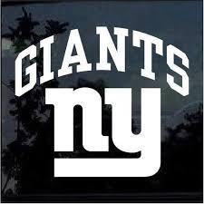 New York Ny Giants Window Decal Sticker Stickersquad
