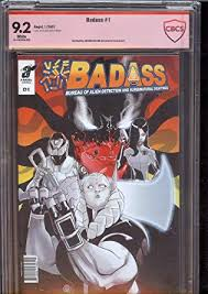 Amazon.com: Badass 1 CBCS 9.2 white pages verified signature of ...