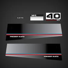 1984 Yamaha 40 Hp Precision Blend Decal Set 40heo Decals Stickers Graphic Mark Garzonstudio Com