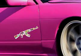 Buy Ak 47 Gun Jdm Sticker Bomb Body Royal Windshield Stance Printed Vinyl Decal Car
