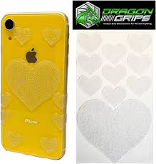 Amazon Com Dragon Grips Tactical Rubber Grip Tape Cute Heart Sticker Decals For Cell Phone Iphone Laptop Tablet Crafts Tumblers Coffee Mugs Clear