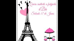 Invitacion Digital Animada Paris Nina Youtube