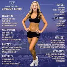 cheerleading team s list of body dos