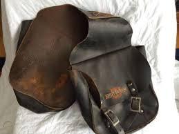 vintage harley davidson leather saddle