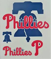 Amazon Com Phillies Fathead Team Logo Set Official Mlb Vinyl Wall Graphics 7 X7 Inch Arts Crafts Sewing