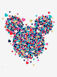 Disney Mickey Mouse Heart Confetti Peel Stick Giant Wall Decal