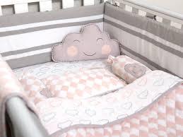 happy cloud organic crib bedding set