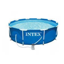 Bể bơi khung kim loại tròn 3m5 kèm máy lọc nước INTEX 28202 ...