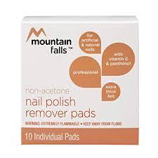non acetone nail polish remover pads