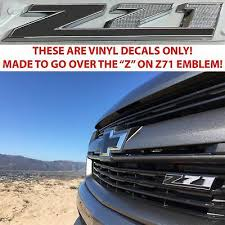 Auto Parts And Vehicles Flat Black Z71 Door Emblem Decal Inserts For 2014 2018 Silverado Sierra New Usa Car Truck Exterior Mouldings Trim