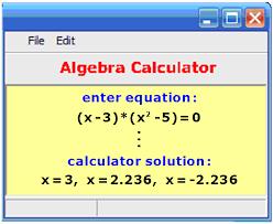 algebra calculator equation