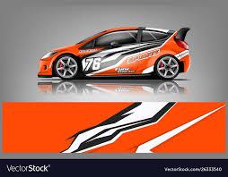 Car Decal Wrap Design Royalty Free Vector Image