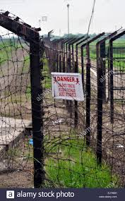 Electrified Fence In Wagah Border Dividing India And Pakistan Stock Photo Alamy