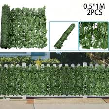 Artificial Fence Green Wall Home Decor Privacy Garden Fence Grass Plant Balcony Faux Hedge Shopee Philippines