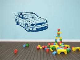 Ford Mustang Sports Car Wall Decal Man Cave Garage Lounge Wall Decor For Men Ebay