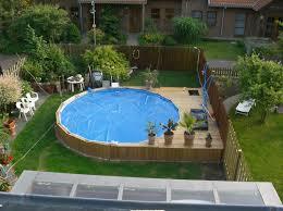 Small Backyard Pool Small Backyard Pools Pool Deck Plans Above Ground Pool Decks