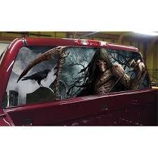 Grim Reaper Cemetery Rear Window Graphic Tint Decal Sticker Truck For Suv Jeep Crow Car Leather Cartoon Decor Sunshade Car Stickers Aliexpress