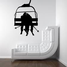 Ski Lift With Romantic Couple Decal By Vinylwalladornments 36 00 Ski Decor Ski Lift Home Decor