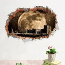 Outer Space Hole Wall Sticker Kids Children Bedroom Decor Wall Decal Space Toy Store