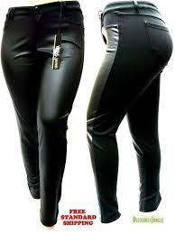 1826 faux leather black stretch