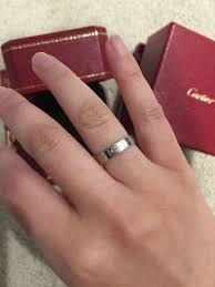 cartier love wedding band in white gold