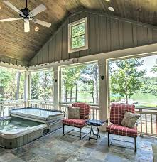 screen porch fireplace kit with