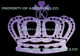 Vrs Crown Royal Tiara Queen Princess Heart Love Custom Initial K Car Metal Decal Decor Decals Stickers Vinyl Art Home Garden Home Decor