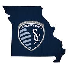 Sporting Kansas City 12 X 12 Logo State Sign