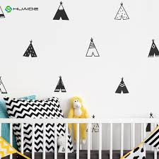 Tribal Teepee Wall Decals Cute Trangle Tents Vinyl Wall Sticker For Kids Rooms Home Bedroom Decor Nursery Decor Art A815 Sticker For Kids Room Vinyl Wall Stickerswall Stickers For Kids Aliexpress