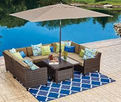 tan rectangular market patio umbrella