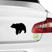 Amazon Com Black Bear Decal Sticker Black 5 Inch Home Kitchen