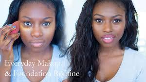 everyday makeup routine dark skin
