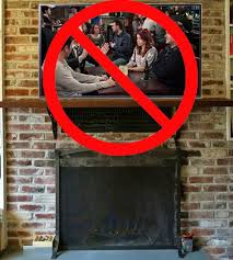 don t mount a tv above a fireplace tv