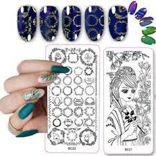 nail art sting template set flower